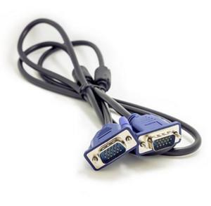 Высокое качество 1.5M 5FT HDB15 15Pin VGA между мужчинами VGA кабель для ТВ-монитор компьютера удлинитель LLFA