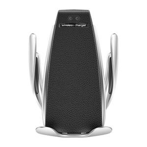 Caricatore senza fili dell'automobile automatica del sensore di iPhone Xs Max Xr X Samsung S10 S9 intelligente infrarossi Wirless di ricarica rapida Phone Holder s5 caldo