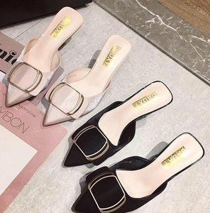 2019 summer New women beautiful sexy flock high heels sandals woman shoes fashion slipper