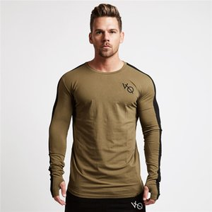2018 New Style Muscle Kid Brother Fitness Sports Long-sleeved T-shirt Men's Autumn Pure Cotton Hoodie Slim Models