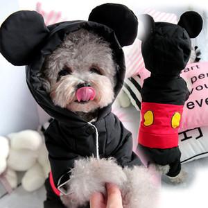 Carino inverno caldo vestiti del cane tuta Piccolo Cane Tuta Yorkies Yorkshire Terrier manto impermeabile cucciolo di Chihuahua Pet Costume T191213