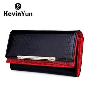 Kevin Yun donne di lusso portafogli in pelle di alta qualità del progettista di marca portafoglio lady fashion frizione casual donne borse partito Y190701