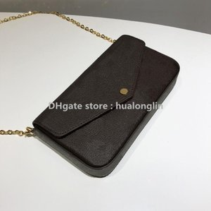 Woman Date Handbag Purse Checker Bag Wholesale Code Fashion Box Original Plaid Flower Oxeog