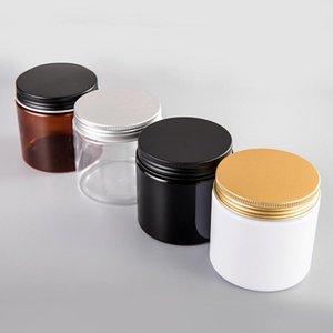 25pcs lot 200G 200ml Plastic Jar Cosmetic Cream Jar Plastic Pot Aluminum Lid Cap PET Container Empty Packing
