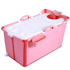 Children's Double Bathtub Folding Enlarged Heat Preservation Bathtub Net Red Foldable Baby Plastic Adult Household