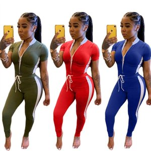 Womens jacket legging outfits 2 piece set tracksuit outerwear tights sport suit short sleeve cardigan pants tracksuit hot klw4010