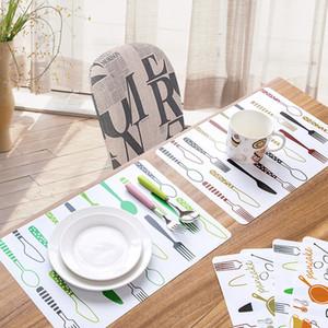 Dibujos animados creativos simple mantel individual resistente al calor de plástico resistente al calor mesa de comedor esteras almohadillas beber vino lugar estera para restaurante cafetería