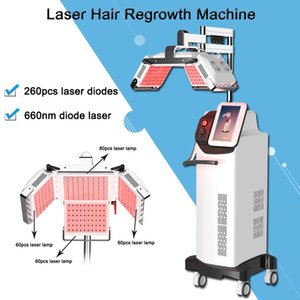 most popular 260pcs laser diodes anti loss treatment adjustable machine anti hair loss user manual approved Japan Mitsubishi lamp