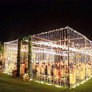3 x 3m LED Eiszapfen LED Vorhang Lichterkette Lichterkette 300 LED Weihnachtslicht für Hochzeit Hausgarten Party Dekor