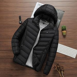 Giacca Nuova Tecnologia donne riscaldata con cappuccio Saluto Cut all'aperto Coat USB elettrico Riscaldamento Parka con cappuccio termico di inverno più caldo Giacche