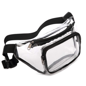 Fanny Pack PVC Clear Sport Pack Waterproof Waist Bag Stadium Approved Clear Purse Transparent Adjustable Belt Travel Bag for Women Men