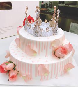 2020 Новый торт Toppers украшения Ретро Хрустальная корона фасонные девушки принцессы День рождения торт Инструменты запеченный десерт Благоприятная Горячий продавать