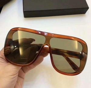 Porfirio 559 Sarışın Havana Plastik Kalkan Güneş Gözlüğü Kahverengi Lens Sonnenbrille lüks tasarımcı güneş gözlüğü Gafas de sol kutu ile Yeni