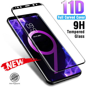 11D Full Curved Tempered Glass On para Samsung Galaxy S9 S8 Plus Note 8 9 Protector de pantalla para Samsung S7 S6 Edge Plus Glass Film