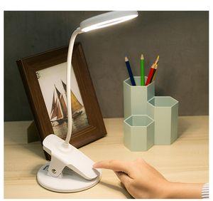 Neue Mini-Studie High Lumen readig Schlafzimmer Batteriebetriebener Tischleuchte Schreibtischlampe Flicker-Free 4 LEDs Augenschutz Flexible