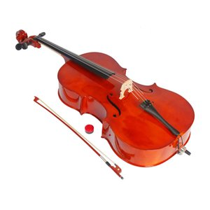 1 2 Varnish Finishing Natural Color Beginner Acoustic Cello with Case Bow Strings Bridge Rosin