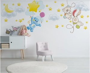 3d wallpaper custom photo Nordic modern minimalist hand-painted bear star children's room background home decor wall paper for walls 3 d