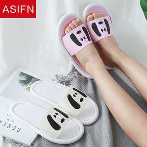 ASIFN Women's Cute Slippers Little Dog Face Cartoon Slides Fashion Cute Non Slip Summer Flip Flops Zapatos De Mujer Shoes Woman