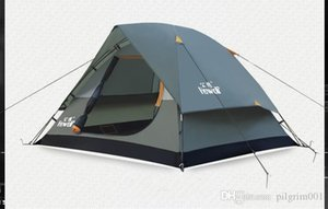 Hewolf Wasserdicht Double Layer 2 3 Person Outdoor-Camping-Zelt Wandern Strand-Zelt Tourist Schlafzimmer Reise 2017 china barraca tenda
