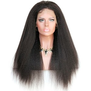 premeir wigs Full Lace Human Hair Wigs Pre-plucked Perimeter with BabyHair Brazilian Hairs KinkyStraight Wigs Natural Hairline With Babyhair