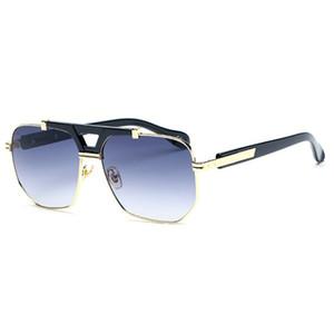 Top Brand designer Big Box Sunglasses Men and Women brand designer sunglasses anti-UV lens men and women high-end gold frame sunglasses