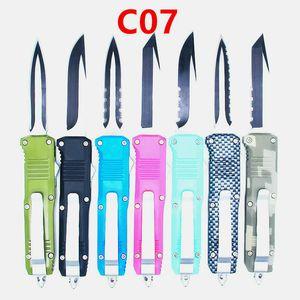 preço de atacado 70 modelos samll C07 7 polegadas de dupla ação autodefesa dobrável EDC faca facas automáticas auto faca xmas presente Adfac