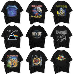 9 Styles Marka Giyim Kısa Kollu yılında Yüksek Kalite Men `Siyah tişört S-XXL Baskılı Iron Maiden Rock Band Tee Gömlek