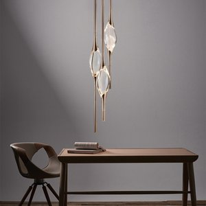 Modern Water Drop Pendant Lights Nordic LED Minimalist Scandinavian Loft Crystal Pendant Lamp Kitchen Barbershop Hanging Lamps