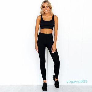 2-Piece Set Workout Clothes for Women Sports Leggings Set Sports Wear for Women Gym Clothing Athletic Yoga Set