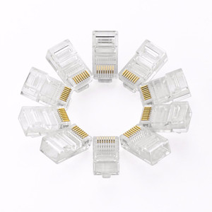 Universal RJ45 Connector 10Pcs RJ45 Cat5e Straight Network Cable Ethernet LAN Connector