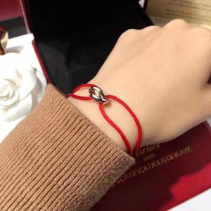 pulsera de alta calidad con suerte tres anillos colgantes de conexión y cuerda para las mujeres y PS7249 hombre regalo de la joyería