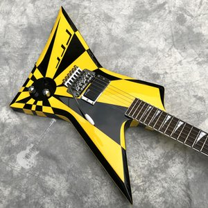 Customized Irregular Black and White Striped Electric Guitar Logo and Shape Can Be Customized