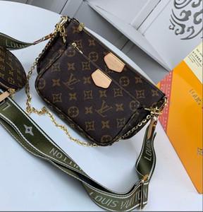 cüzdan ile 3pcs / set yüksek qulity klasik Tasarımcı Womens çanta çiçek bayanlar kompozit torbaları PU deri debriyaj omuz çantaları kadın çanta