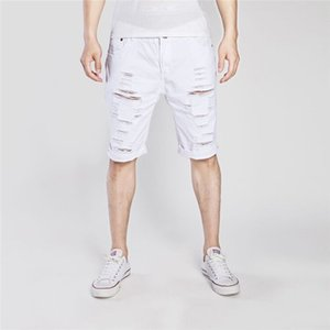 2020 Summer New Men's Shorts Denim High Street Trend Personality Slim Pants Hole Fashion Style Short Jeans
