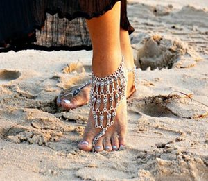 European and American fashion foot ring exaggerated fashion retro ethnic style water drop tassel coin anklet female