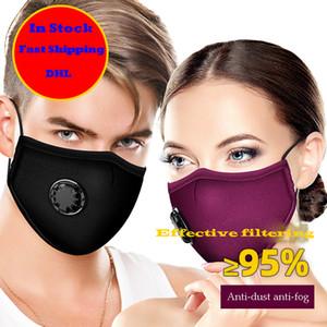 PM2.5 anti-niebla y a prueba de polvo filtro de algodón adulto Máscara negro y cálido hembra otoño y la máscara de válvula de respiración invierno