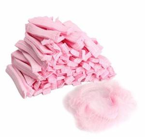 10000pcs / lot Non-tissé Capuchons De Douche Plissée Anti-Chapeau anti-poussière Femmes Hommes Casquettes De Bain pour Spa Salon De Coiffure Beauté Accessoires