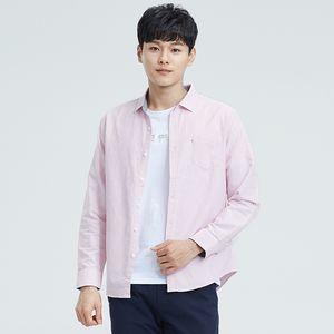 2019 Vomint мужская рубашка с длинным рукавом повседневная мужская хлопковая рубашка Stried Большой размер S ~ 5XL SC7101