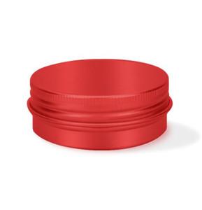 DHL 30ML إفراغ جرة جولة إعادة الملء حاوية الألومنيوم الذهب الأسود الأحمر ن ن كريم مستحضرات التجميل جرة المعادن حاويات 50 * 20 * 0.3MM