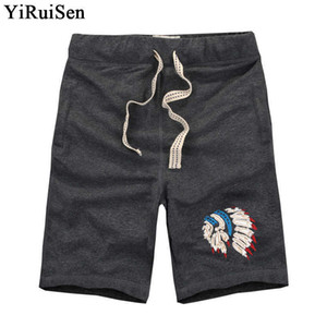 Yiruisen Brand Top Quality Men's Board 3xl 100% Cotton Casual Shorts Men 2018 Summer Short Pants Bermuda Masculina S19715