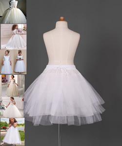 Vendita calda Petticoats Ball Gown capretto dei bambini Dress Tre del cerchio del cerchio Ragazze Bianche scivolare Flower Girl gonna a campana di trasporto
