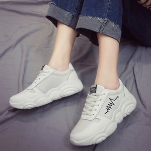 Little Bear Papa Sneakers Chaussures Femme Automne 2019 Ins All-match Tide Loisirs Run Time Petit White Shoes