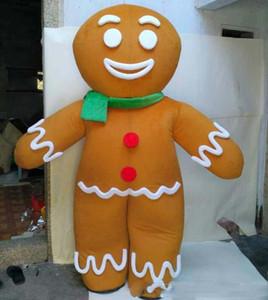 Direkter Verkauf der Fabrik glücklich Gingerbread Man Maskottchenkostüm für Erwachsene zum Verkauf