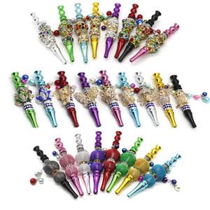 animali di figura colorata narghilè metallo punte all'ingrosso titolare smussato con strass narghilè boccaglio shisha suggerimenti fumatori Accessori DHB710