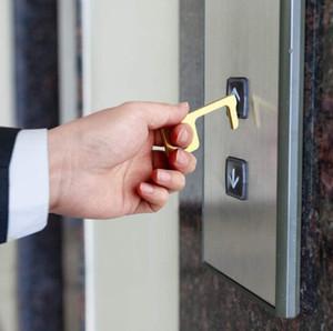 Ascenseur Bouton Ouvre-porte Contactless EDC clé outil pour l'extérieur Poignée publique Bouton tactile Closer outil d'ouverture boucle crochet bâton à la main