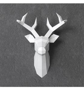 Décoration murale 3D nordique minimaliste amusant fait main bricolage renne papier art salon décoration pendentif bijoux rack ins