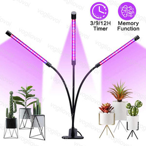 Grow Lights 1 2 3Heads Hose Lamp Full Spectrum Blue With Clip USB Charge Dimmable For Grow Tent Covered Green Houses Lamp DHL