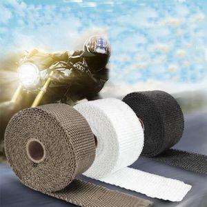 5cm * 5/10/15 / 20M Auto-Motorrad-Auspuff Thermal Exhaust Band Heizband Wrap Rohr Wrap Shields Manifold Kopf Isolierung