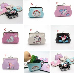 6styles unicorn full print girls woman adult wallets bags PU Coin Purses women make up bags size 12*9cm