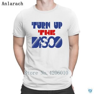 Turn Up The Disco Tshirt Fitness Clothing Short Sleeve Personality Men's Tshirt Original Graphic Slogan Anlarach Summer Style